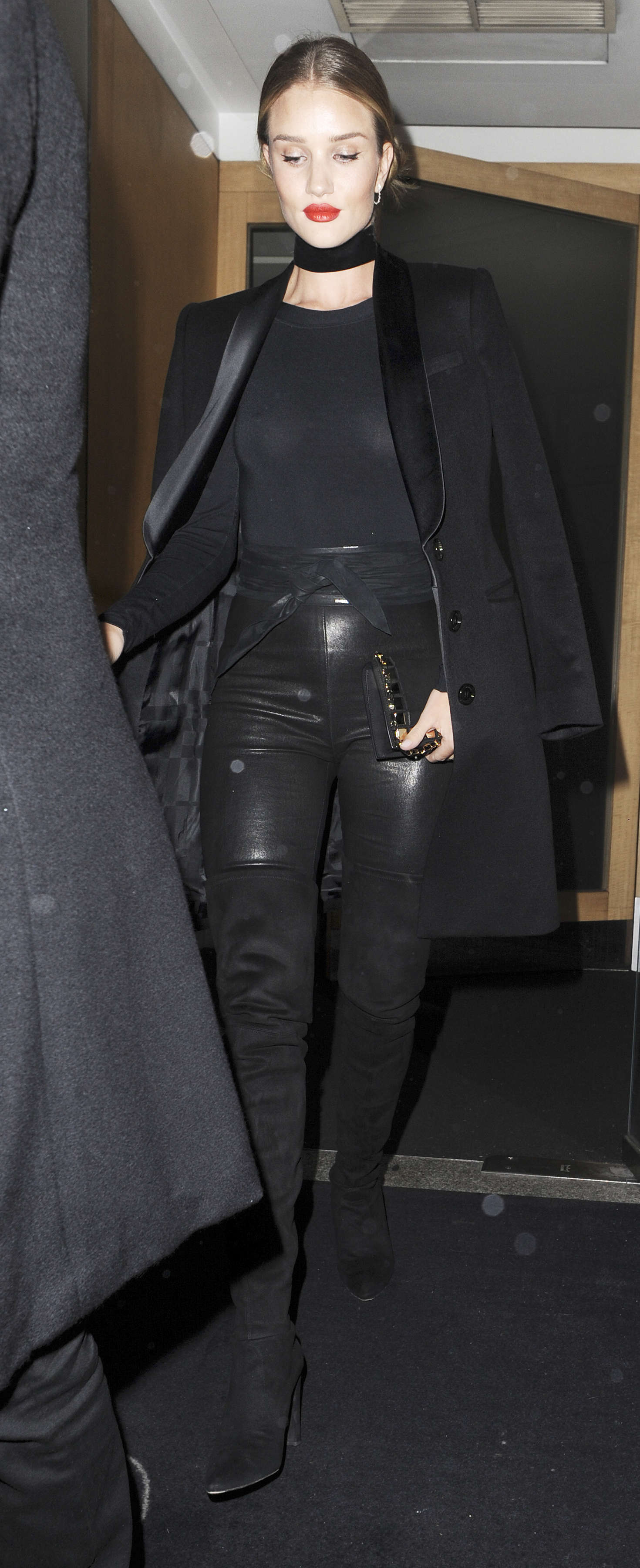 Rosie Huntington Whiteley leaves Nobu restaurant Rosie Huntington Whiteley