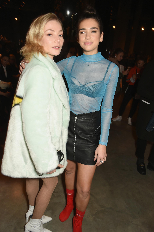 Dua Lipa attends Topshop's London Fashion Week show