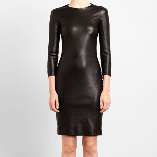 Leather Knee LengthDress