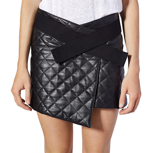 Leather Quilted Skirt