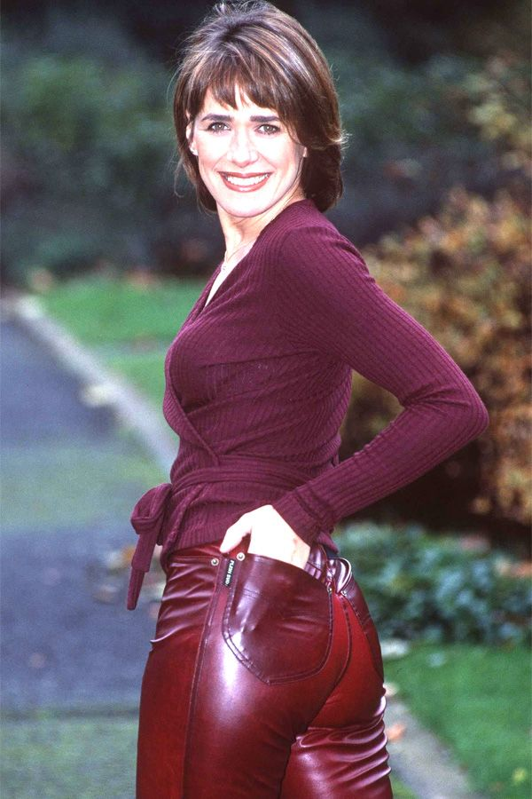 Carol Smillie At Rear Of The Year 1998 Leather Celebrities