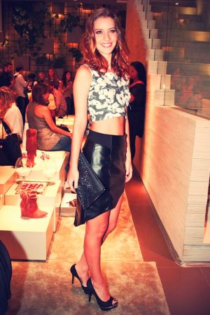 Nathalia Dill attends a fashion event in Sao Paulo