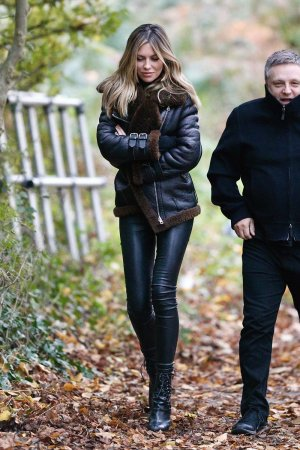 Abbey Clancy on set filming for a Fiat TV advert