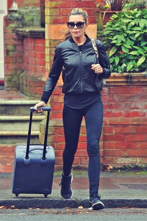 Abbey Clancy Leaving for SCD Rehearsals