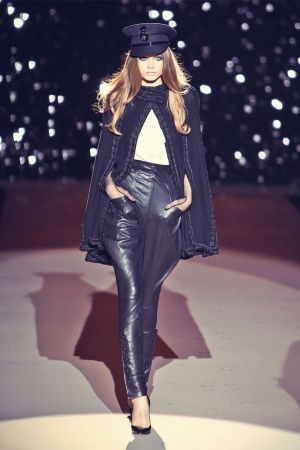Abbey Lee Kershaw leather mix