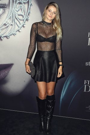 Abbie Weir arrives ahead of the Fifty Shades Darker launch screening