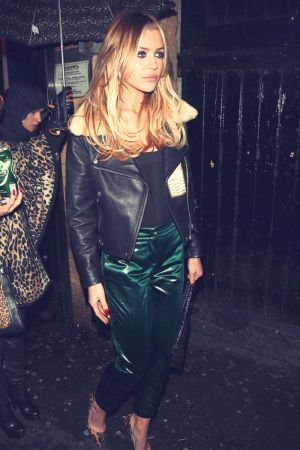 Abigail Clancy arrives at the O2 Academy