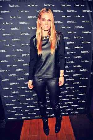 Actress Molly Sims attends the BOOHOO.com #CRAZYINBOOHOO VIP viewing party