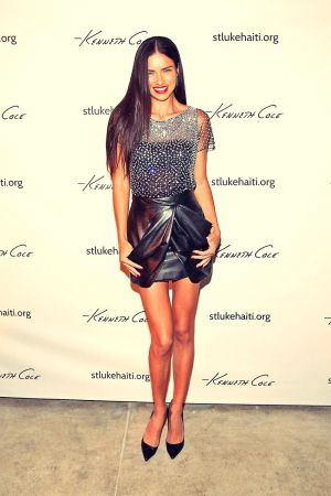 Adriana Lima Celebrating Haitian Heroes of St. Luke Foundation