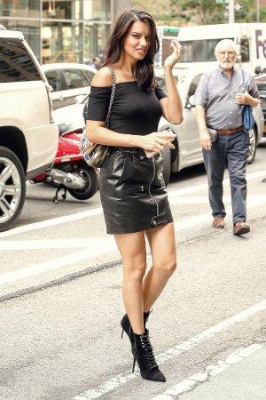 Adriana Lima outside Victoria's Secret offices