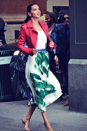Adriana Lima Photo shoot for Maybelline in SoHo