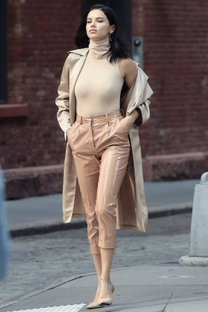 Adriana Lima spotted on a video shoot
