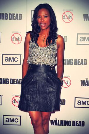 Aisha Tyler at Premiere of AMC's The Walking Dead 3rd Season