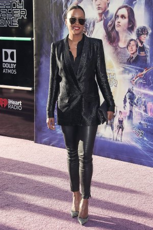 Aisha Tyler attends Ready Player One film premiere