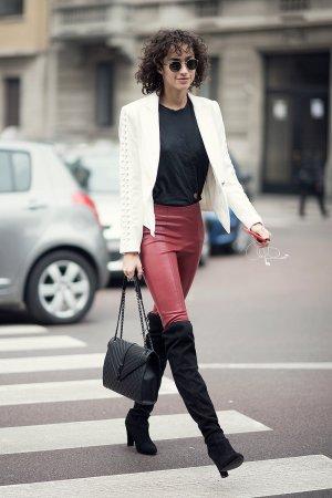 Alanna Arrington is seen during Milan Fashion Week Fall/Winter