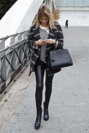 Alba Carrillo is seen in Madrid