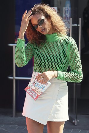 Alesha Dixon at Global Studios to promote her new book