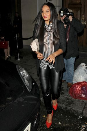 Alesha Dixon leaving Nobu Berkeley