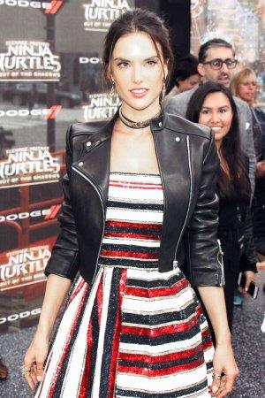 Alessandra Ambrosio attends Teenage Mutant Ninja Turtles premiere