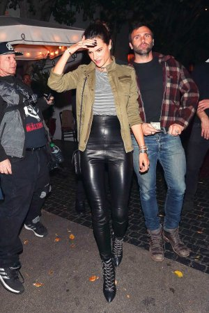 Alessandra Ambrosio dinner at Chateau Marmont