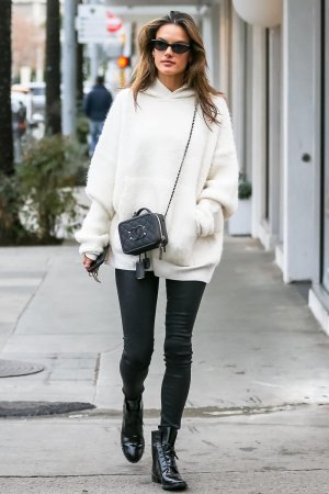 Alessandra Ambrosio out for Christmas shopping