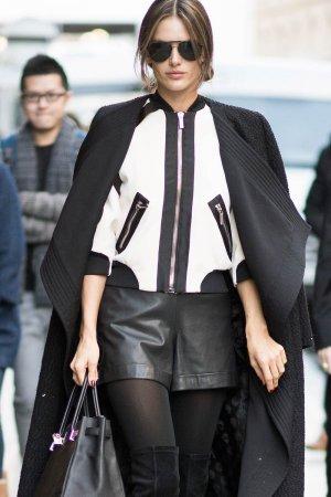Alessandra Ambrosio street style in Paris