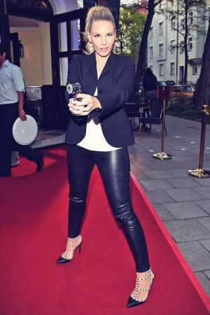 Alessandra Geissel attends Live Another Day Premiere
