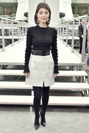 Alessandra Mastronardi attends Chanel show