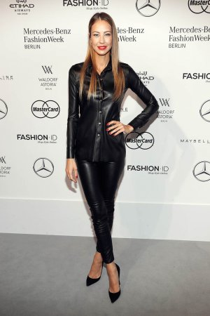 Alessandra Meyer-Woelden attends Mercedes-Benz Fashion Week Berlin