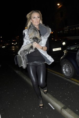 Alex Gerrard arriving at The Amanzi restaurant
