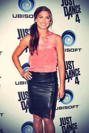 Alex Morgan attends The Launch Of Just Dance 4