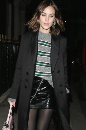 Alexa Chung attending the Ysl Beauty Club party