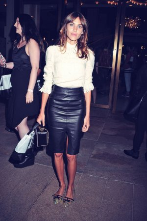 Alexa Chung attends Opening Ceremony Fashion show