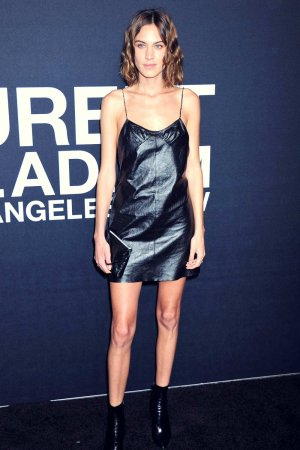 Alexa Chung attends Saint Laurent show