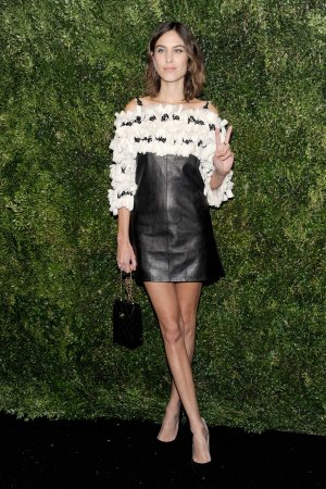Alexa Chung attends the 2016 Museum of Modern Art Film Benefit