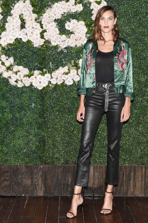 Alexa Chung attends the 90's Young Hollywood event presented by AG