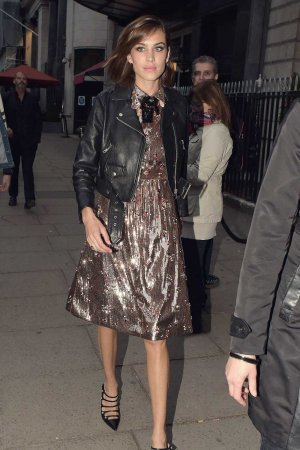 Alexa Chung attends the Gucci party