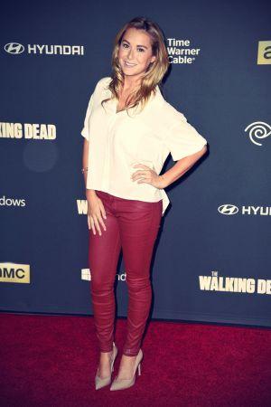 Alexa Vega attends The Walking Dead 4th Season Premiere