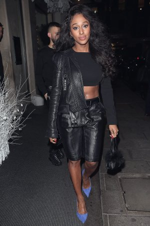 Alexandra Burke at Secsy Fish Restaurant