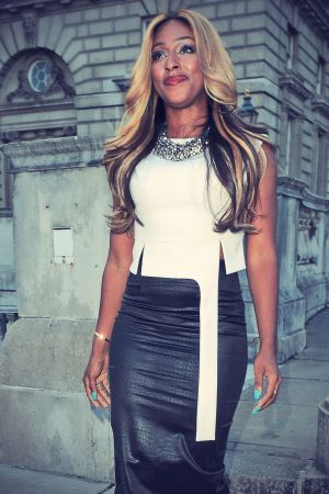 Alexandra Burke attends The F&F Autumn/Winter 2013 collection showcase