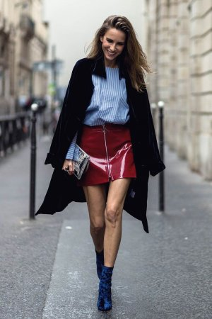 Alexandra Lapp at Paris Fashion Week