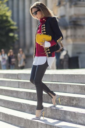 Alexandra Lapp Street Style at Paris Fashion Week