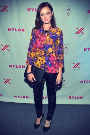 Alexis Bledel at Nylon September TV Issue Party