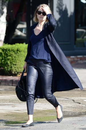 Ali Larter exiting a salon in LA