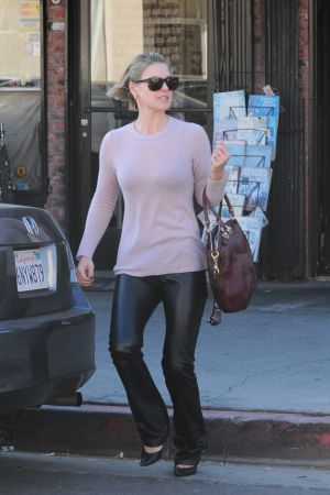 Ali Larter leaving a UPS store in West Hollywood
