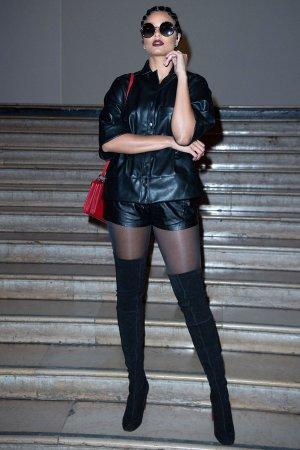 Alicia Aylies attends Antonio Grimaldi show