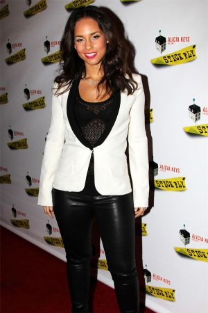Alicia Keys attends the Stick Fly Broadway opening night