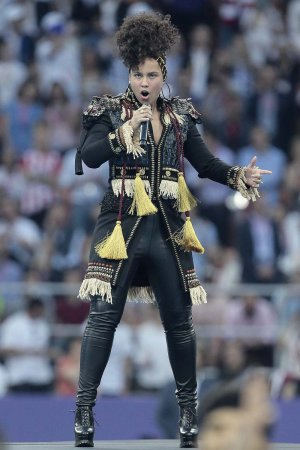 Alicia Keys performs at the UEFA Champions League Final