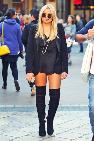 Alli Simpson seen as she goes shopping at The Grove