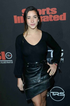 Aly Raisman attends Sports Illustrated Saturday Night Lights SuperBowl Party